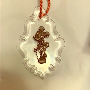 Crystal ornament  sterling silver Mickey Mouse.